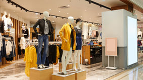 Women's fashion shop Royalty Free Stock Photos