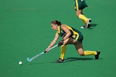 Women's field hockey. Kim Hubach of SA in action during a women's field hockey match between South Africa and Belgium (South Africa won 4-1), Bloemfontein, South Stock Images