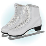 The women's figure ice skate. Illustration Royalty Free Stock Images