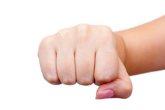 Women's fist Royalty Free Stock Photography