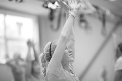 Women's fitness class Stock Photo