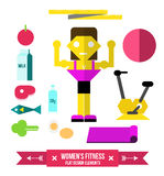 Women's Fitness and nutrition. Stock Photo
