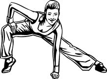 Women's Fitness - vector illustration. Stock Photos