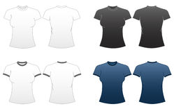 Women's Fitted T-shirt Templates-Series 1 Stock Photos