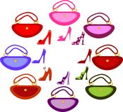Women's footwear and handbag Stock Photo
