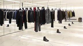 Women's garments boutique interior Stock Image