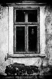 Women`s Ghost at the grunge window. royalty free stock photo
