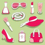 Women's glamour stuff set Royalty Free Stock Photos