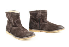 Women's gray boots Royalty Free Stock Image