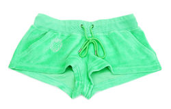 Women's green shorts Stock Image