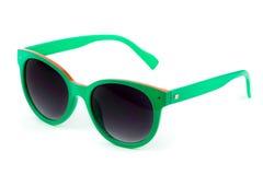 Women's green sunglasses Stock Photos