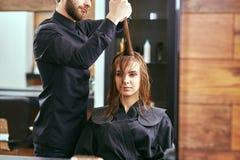 Women's haircut. hairdresser, beauty salon Royalty Free Stock Photo