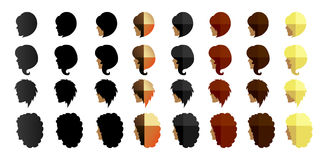 Women's hairstyles Stock Image