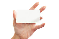 In the women 's hand card Stock Photo