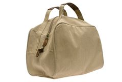 Women's handbag. Matter ladies' handbag on a white background Stock Photos