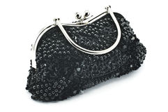 Women's handbag. Beautiful stylish women's handbag decorated with original Stock Photography
