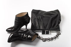 Women's handbag and shoes royalty free stock image