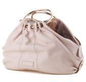 Women's handbag on a white background. Stylish women's handbag on a white background Stock Images
