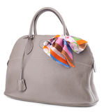 Women's handbag on a white background. Stylish women's handbag on a white background Royalty Free Stock Photo