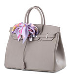 Women's handbag on a white background. Stylish women's handbag on a white background Royalty Free Stock Photos