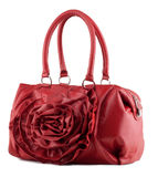 Women's handbag on a white background. Stylish women's handbag on a white background Stock Photos