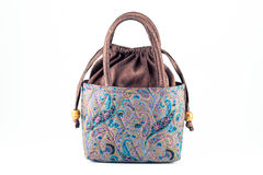 Women's handbags made ​​from silk Stock Photo