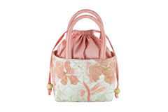 Women's handbags made ​​from silk Royalty Free Stock Photo