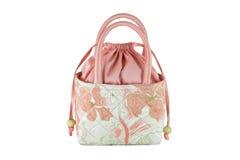 Women's handbags made from silk Royalty Free Stock Photo