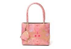 Women's handbags made from thai silk Royalty Free Stock Photography