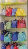 Women's handbags on sale Stock Photography