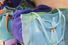 Women's handbags on sale Royalty Free Stock Photos