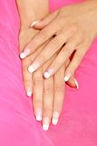 Women's hands. Beautiful women's hands with a manicure Stock Photos