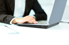 Women's hands on the keyboard Royalty Free Stock Photos