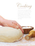 Women's hands knead the dough Royalty Free Stock Images