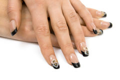 Women's hands with a nice manicure Royalty Free Stock Photo