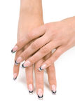 Women's hands with a nice manicure. Royalty Free Stock Photo