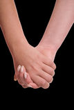 Women's hands sensual touch Stock Photo