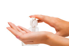 Women's hands with soap royalty free stock photo
