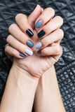 Women's hands with a stylish manicure Royalty Free Stock Photos