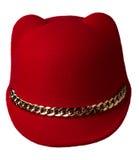 Women`s hat felt isolated on white background .fashion hat fel Stock Photo