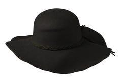 Women`s hat felt isolated on white background .fashion hat fel Royalty Free Stock Images