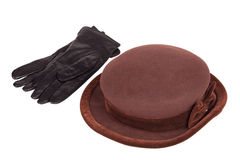 Women's hat and gloves Royalty Free Stock Image