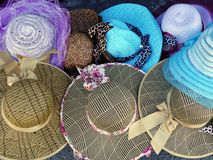 Women's Hats for Sale Stock Photo