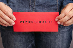 Women's health concept Stock Images