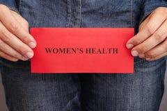 Women's health concept Stock Images