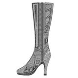 Women's high-heeled boot Stock Image