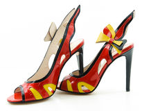 Women's high-heeled shoes. Royalty Free Stock Images