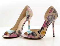 Women's high-heeled shoes. Stock Photo