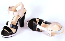 Women's high-heeled shoes Royalty Free Stock Photography