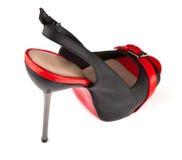Women's high-heeled shoes Stock Photos